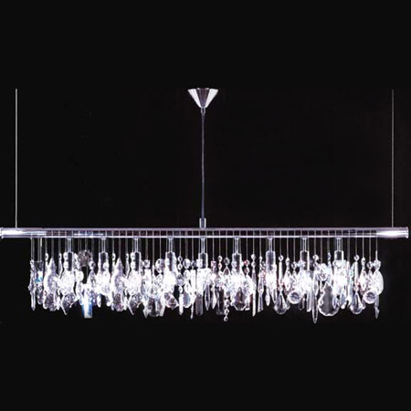 James R Moder 94160S22 Crystal Broadway Linear Chandelier
