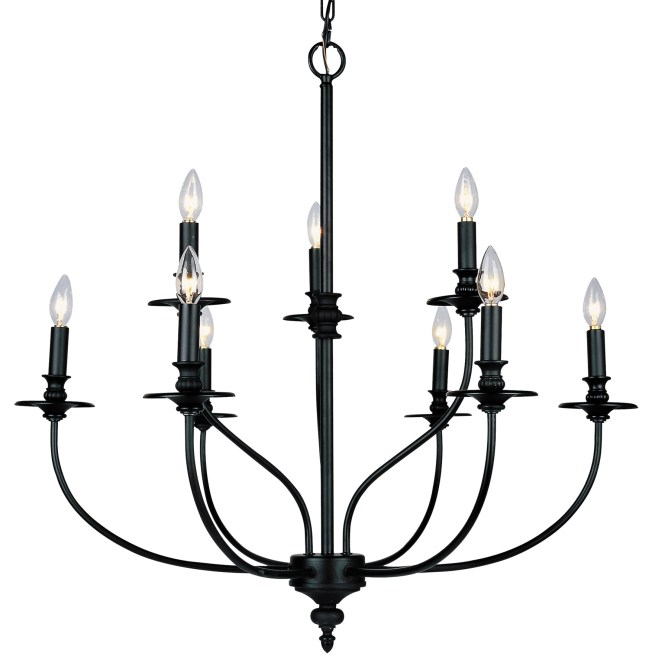 Elk Lighting 289 Ob Hartford Nine Light Chandelier