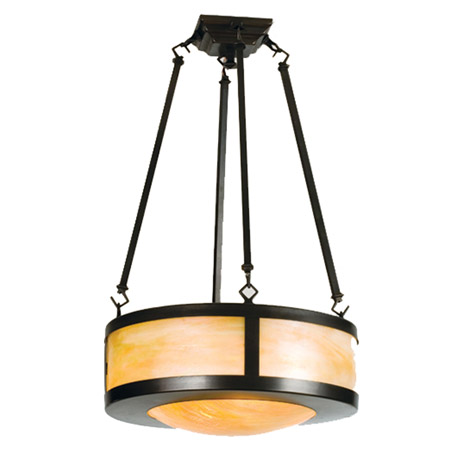 Meyda 23787 Arts Amp Crafts Semi Flush Ceiling Fixture