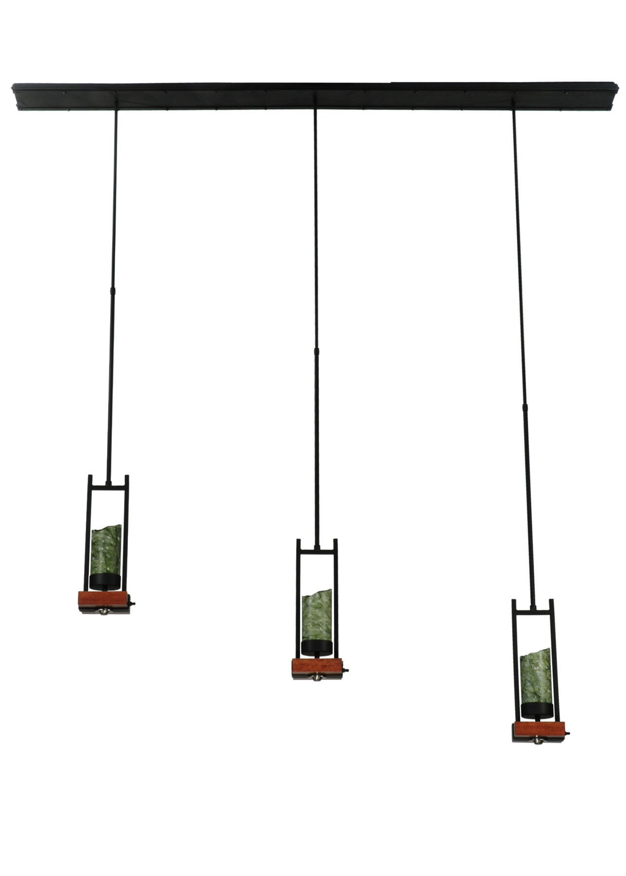 Meyda Grand Terrace Linear 3 Light Multi Pendant