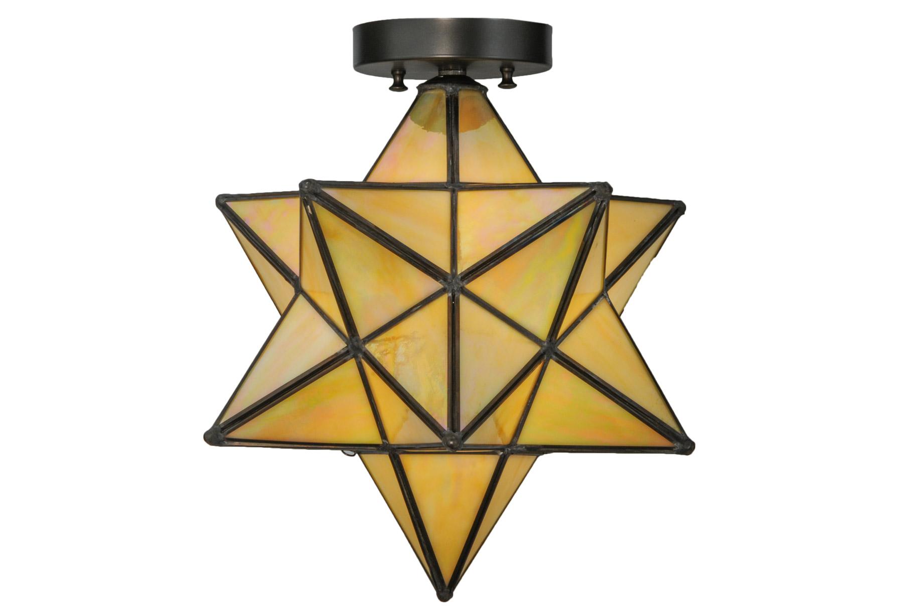 Meyda 148883 Moravian Star Flush Mount Ceiling Fixture