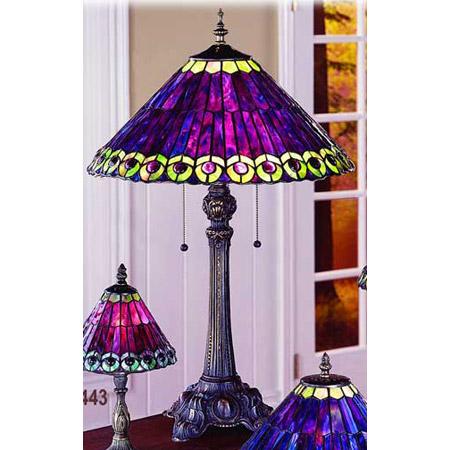 Paul Sahlin Tiffany 672 Tiffany Peacock Table Lamp