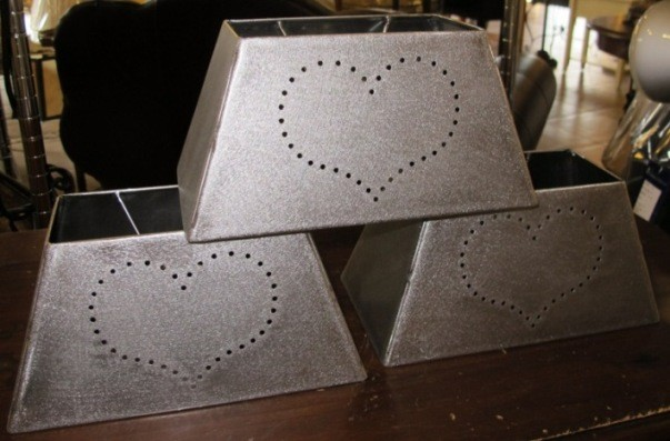 rectangle punched tin metal lamp shade