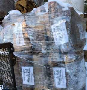 Firewood bundles from LAM Tree Service