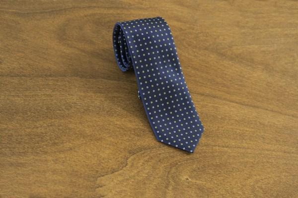 Cravatta fantasia fondo blu mod. 155
