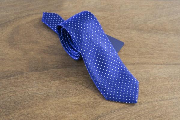Cravatta a pois fondo azzurro mod. 015