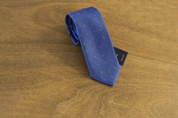 Cravatta fantasia fondo azzurro mod. 162