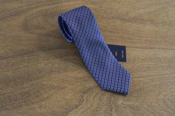 Cravatta fantasia fondo blu mod. 174