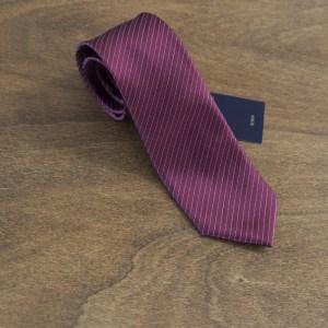 Cravatta a righe fondo bordeaux mod. 189