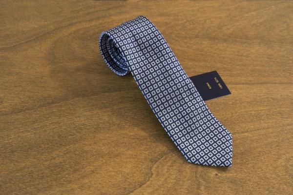 Cravatta fantasia fondo blu mod. 194