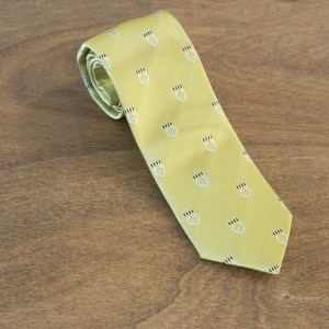 Cravatta fantasia fondo giallo mod. 201