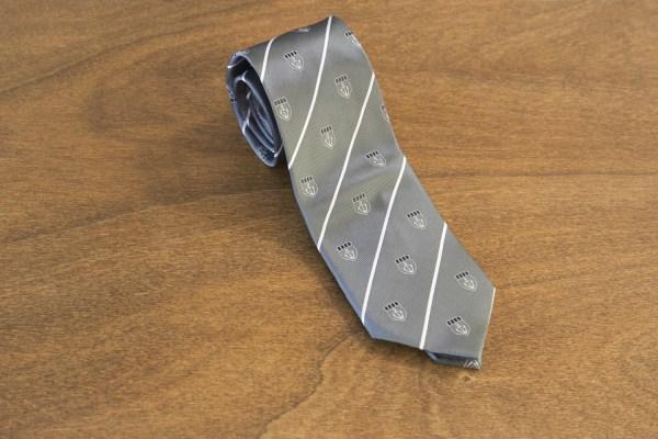 Cravatta a righe fondo grigio mod. 203