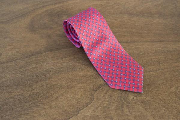 Cravatta fantasia fondo rosso mod. 252
