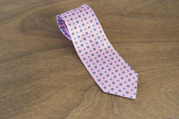 Cravatta fantasia fondo rosa mod. 254