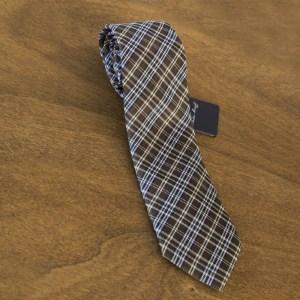 Cravatta fantasia fondo marrone mod. 033