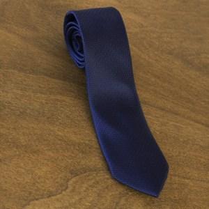 Cravatta tinta unita fondo blu mod. 037