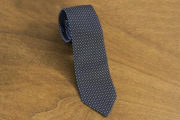 Cravatta fantasia fondo blu mod. 041