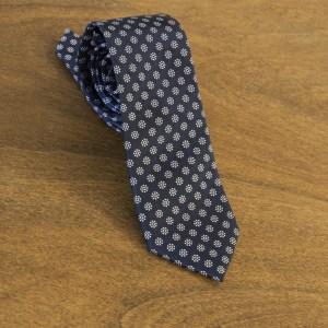 Cravatta fantasia fondo blu mod. 043