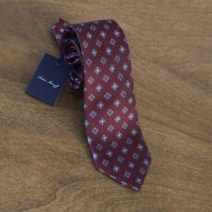 Cravatta fantasia fondo bordeaux mod. 075
