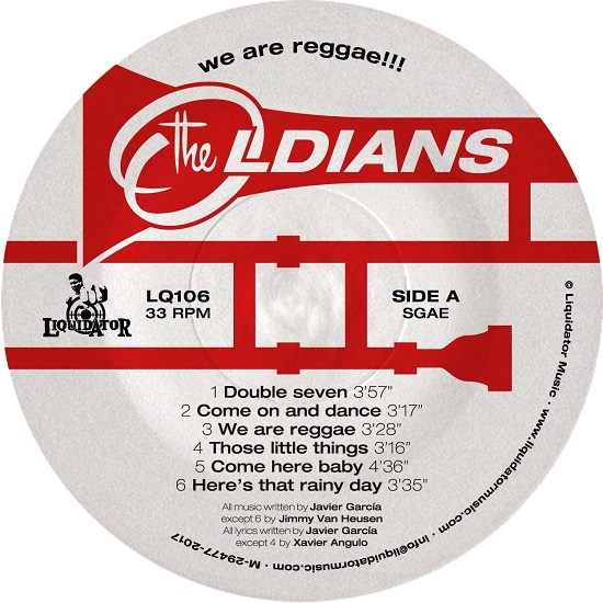 "Il lato A di ""We Are Reggae"" dei The Oldians"
