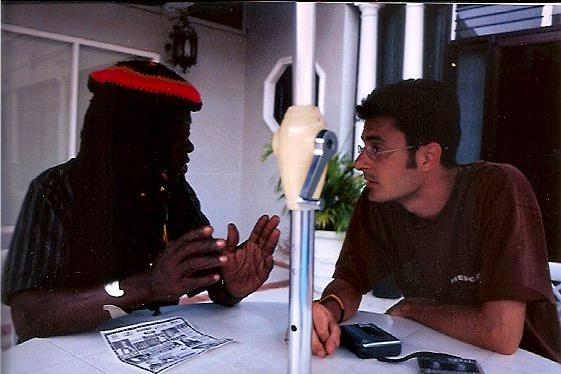 Sergio Rallo di Skabadip con Winston Jarrett