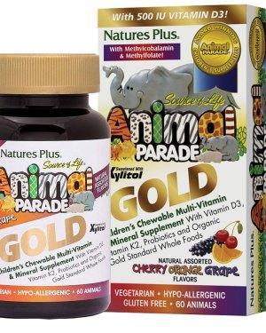 Мултивитамини за деца с пробиотици Animal Parade Gold (60 бр)
