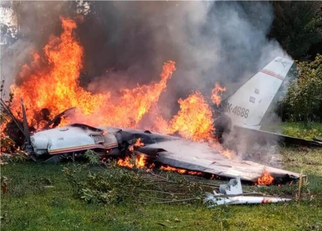 Accidente aéreo dejó 4 personas muertas 1 16 febrero, 2020