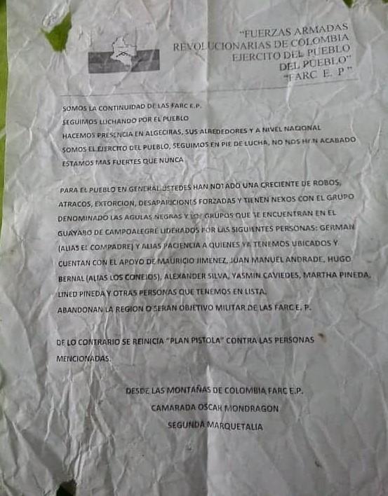 Alarma, 180 desplazados en dos meses 2 12 agosto, 2020