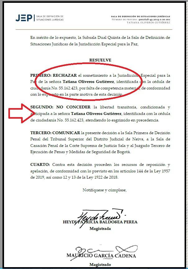La ex fiscal Oliveros no pudo aterrizar en la JEP 3 3 agosto, 2020