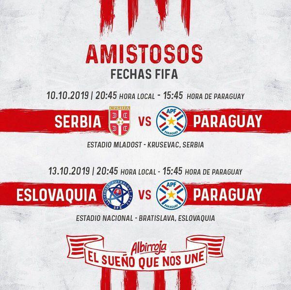 La próxima fecha FIFA que tendrá a Paraguay disputando dos compromisos.