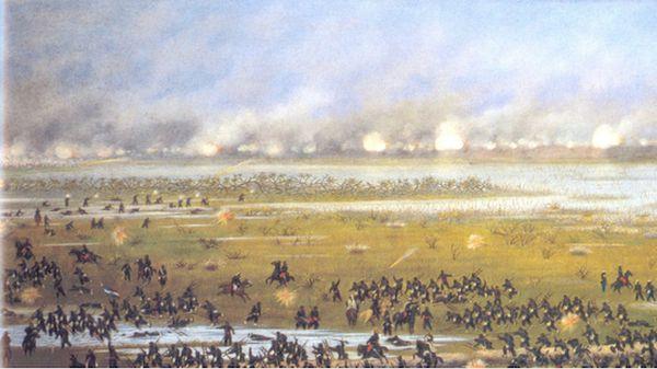 Curupayty. Los óleos de Cándido López sorprenden por su claridad y detalles de las más cruentas batallas libradas en territorio paraguayo.