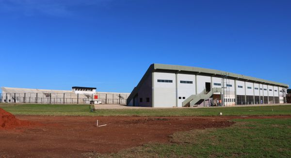 Aspecto exterior del estadio, que en abril se habilitará en su primera etapa.