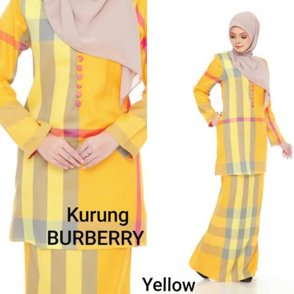 baju kurung burberry cotton