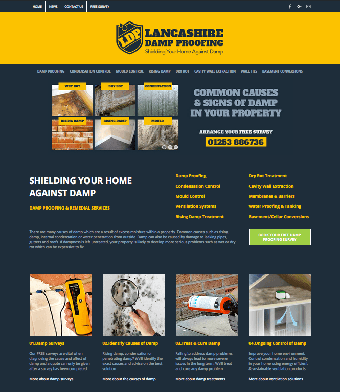 Lancashire Damp Proofing | Blackpool Damp Proofing