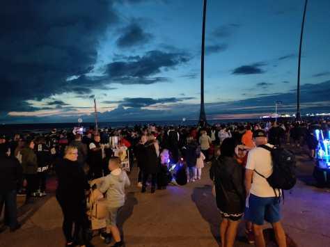 Lancashire Telegraph: Crowds at the Blackpool Firework Championships