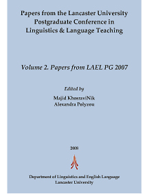 Volume 2. Papers from LAEL PG 2007