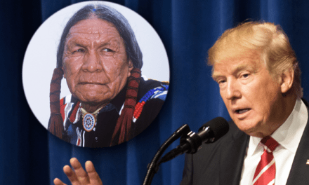 Trump trashes Native American History Month for a Caucasian celebration