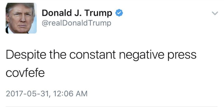 covfefe tweet, donald trump tweet