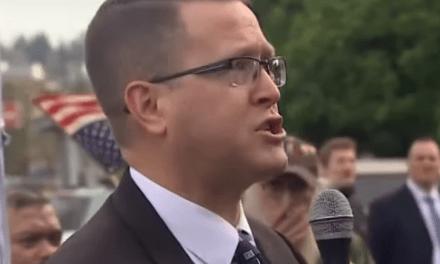 Republican lawmaker accused of domestic terrorism invokes Trump in refusal to resign
