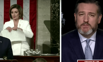 Ted Cruz throws a fit over Pelosi tearing up Trump's dirty SOTU speech