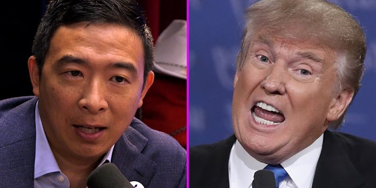 Andrew Yang suggests he would consider pardoning Trump