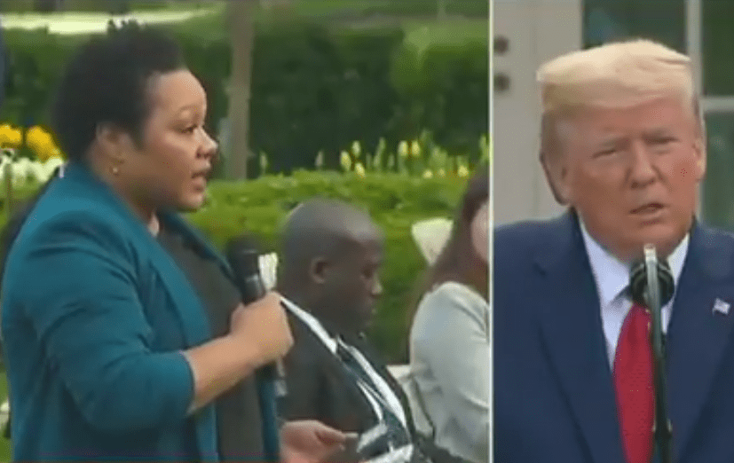 Trump offers racist attack to black reporters while accusing them of threatening him