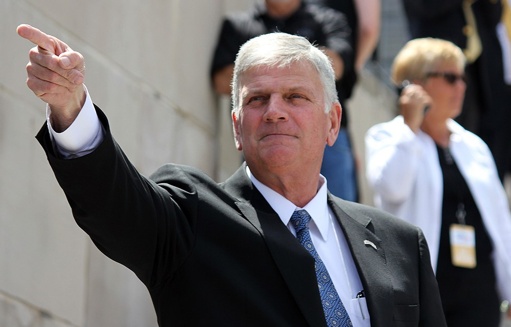 Franklin Graham says COVID-19 is a direct result of a world 'that has turned its back on God'