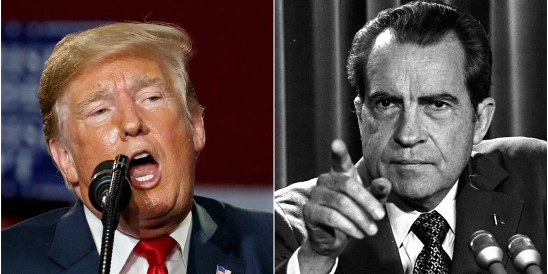 Trump goes on Fox News to brag that he 'learned a lot from Richard Nixon'