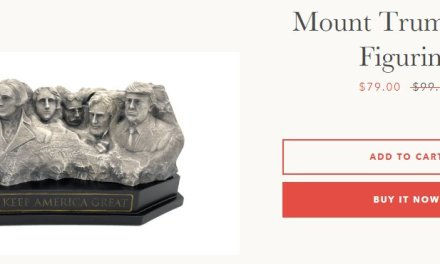 Internet explodes with laughter as company hawks $79 'Mount Trumpmore' figurine