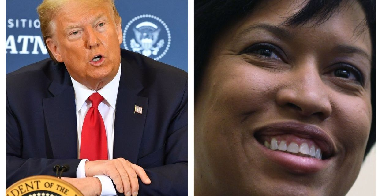 DC Mayor Muriel Bowser throws major shade at Trump as he hides in the White House