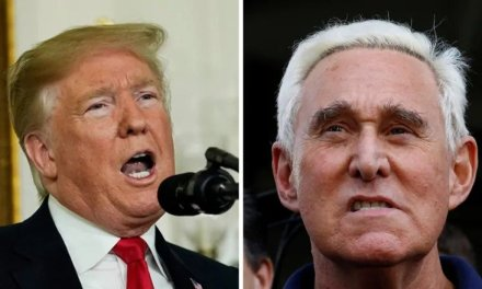 Trump hints that a pardon is forthcoming for longtime confidant Roger Stone