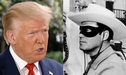 Trump says he looks like the 'Lone Ranger' when he wears a mask, and the internet has questions