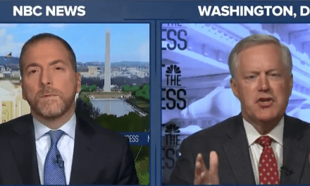 White House Chief of Staff Mark Meadows declares that 'Donald Trump's America is peaceful'