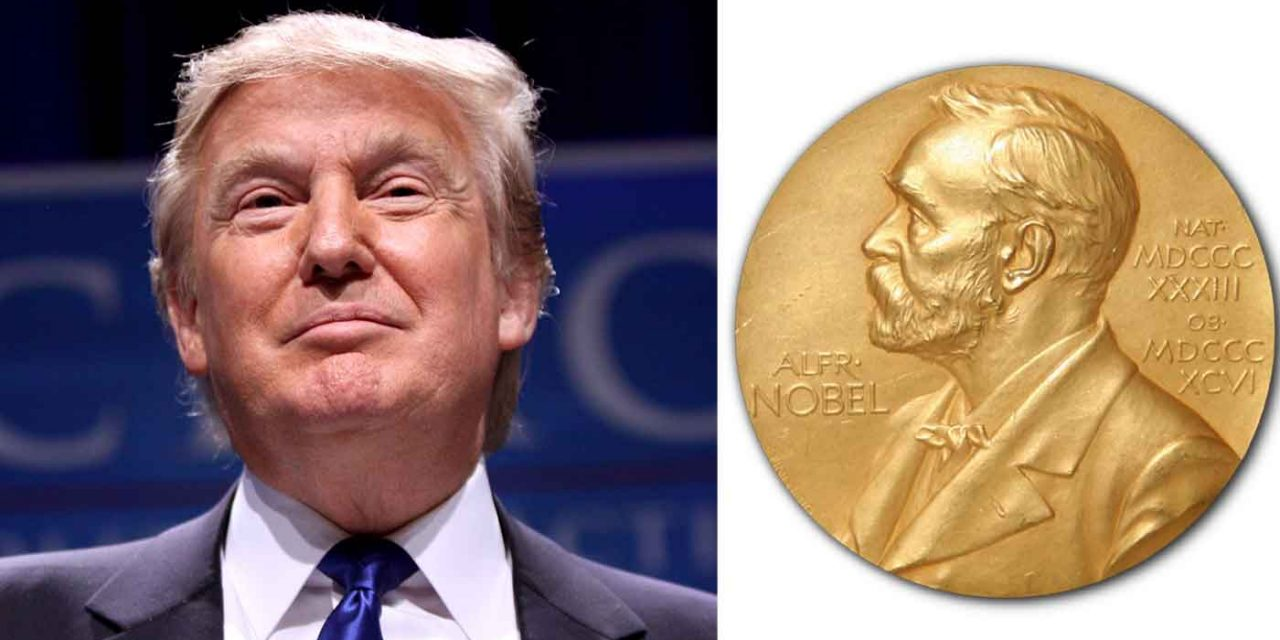 Trump campaign flubs spelling of 'Nobel' in ad touting his nomination for Peace Prize